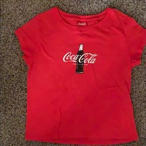 Coca Cola short sleeve cropped tee
